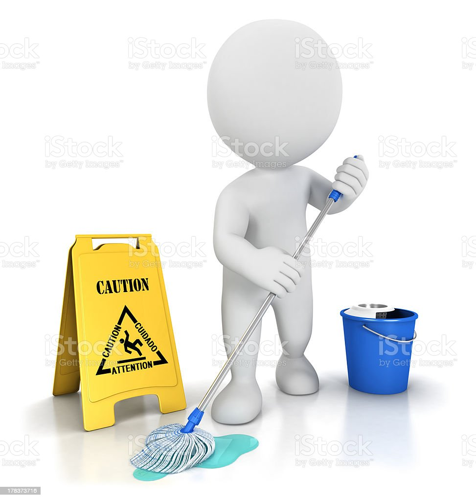 3d white people cleaner stock photo