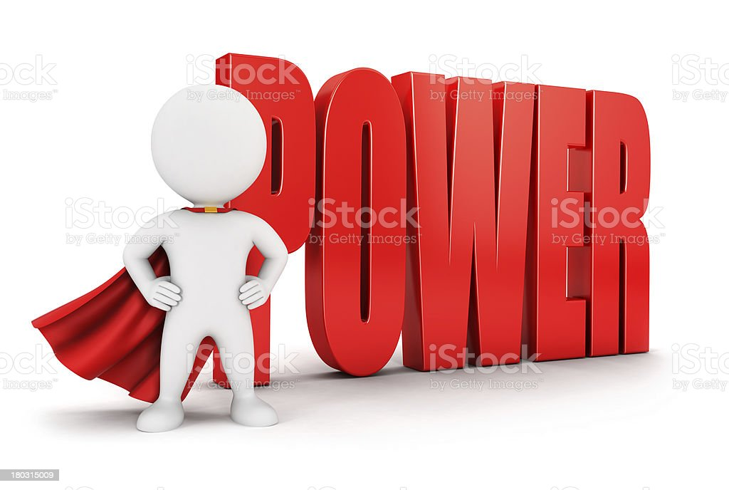 3d white people power royalty-free stock photo