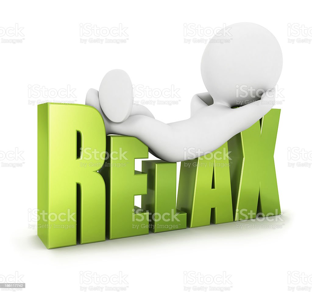 3d white people relax stock photo