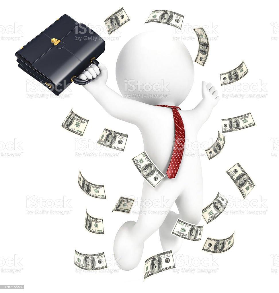 3d white people rich businessman stock photo
