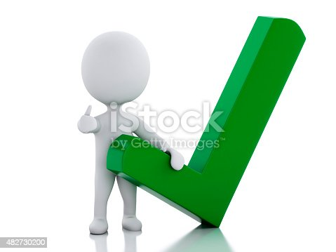 474551486istockphoto 3d white people with check mark 482730200