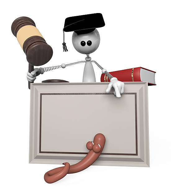 3d white person judge. stock photo