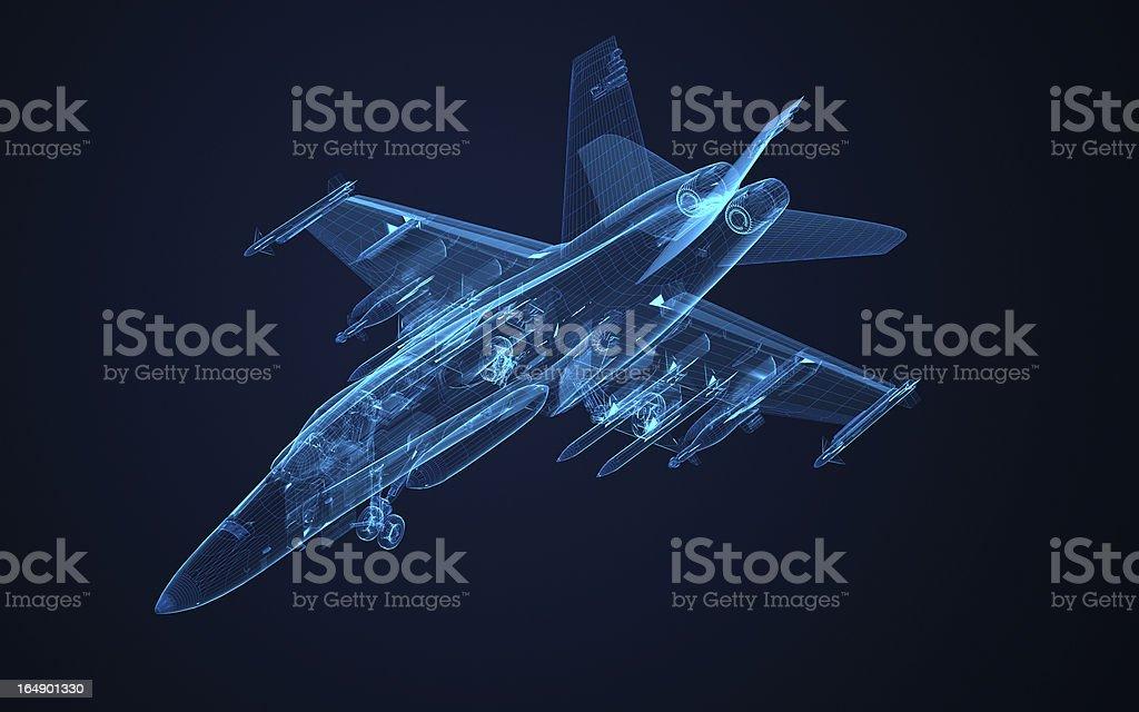 3 D Drahtmodell Skizze F18 Hornet Stock-Fotografie und mehr Bilder ...