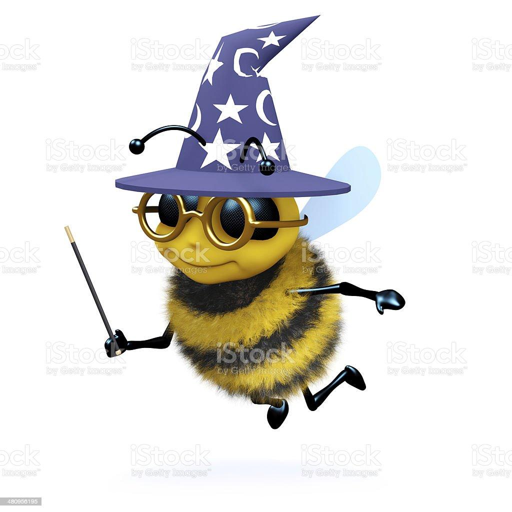 3d Wizard bee stock photo