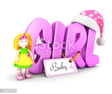 508167718 istock photo 3d word girl concept 188076576