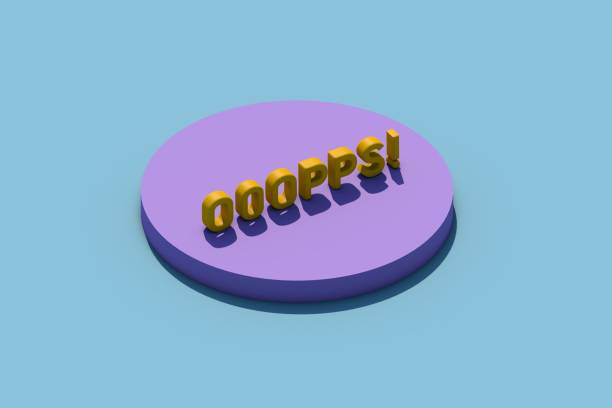 3d word oops stock photo