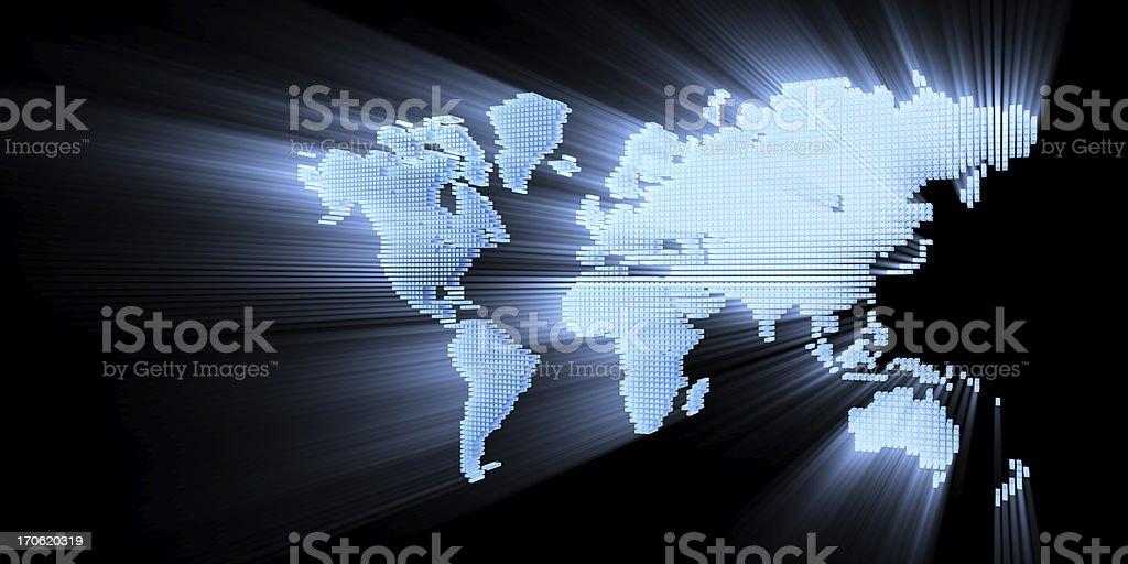 3d world royalty-free stock photo