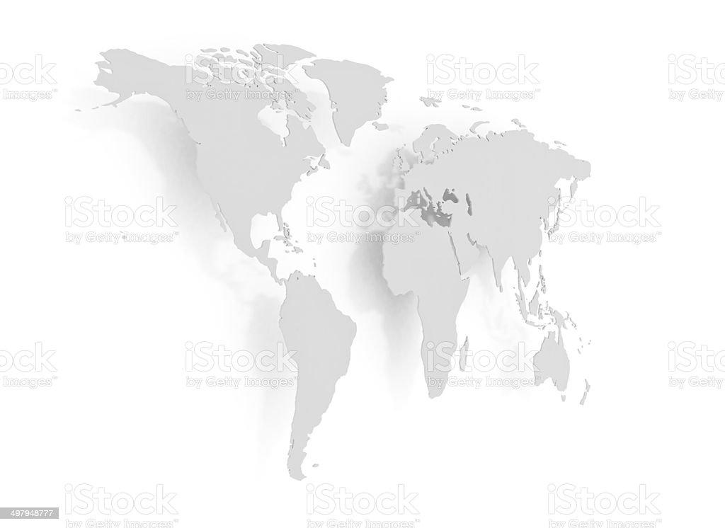 3d world shape stock photo