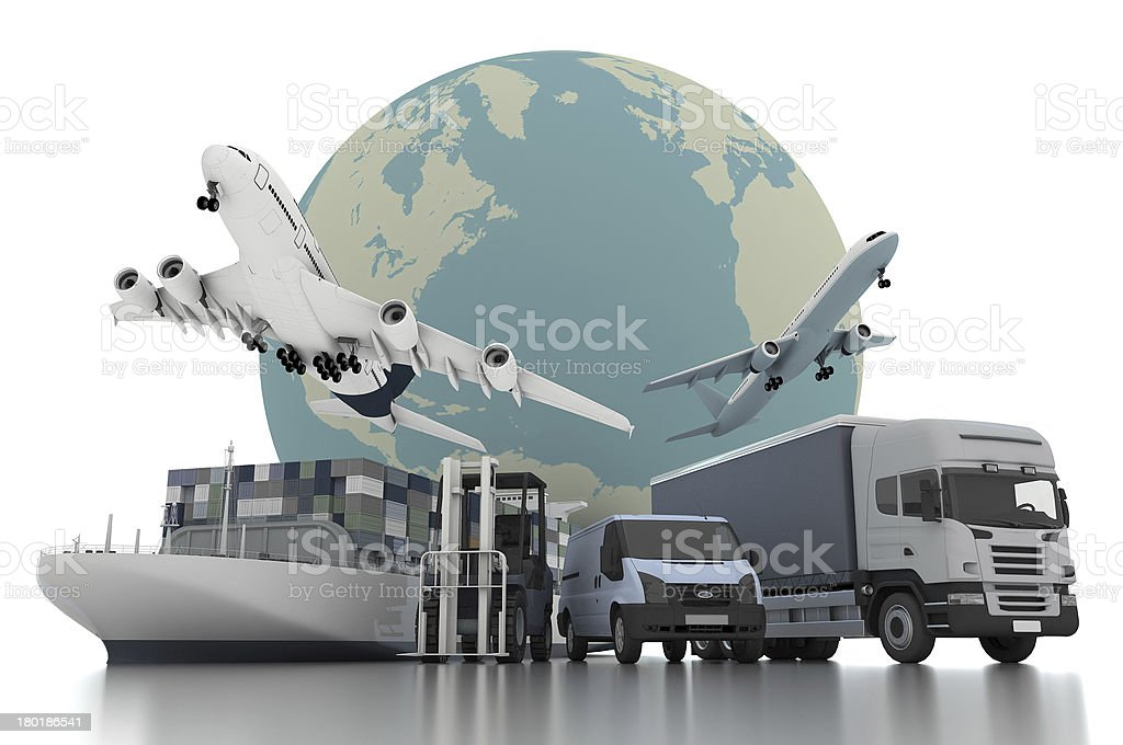 3d world wide cargo transport concept stock photo