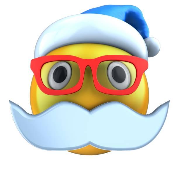 emoticono amarillo 3d sonreír con sombrero de la navidad - sequence animation fotografías e imágenes de stock