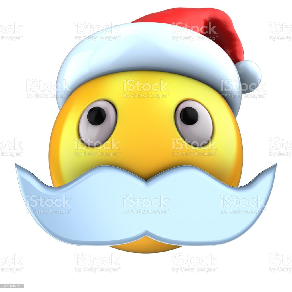 32f869b23a87f 3d yellow emoticon smile with christmas hat royalty-free stock photo