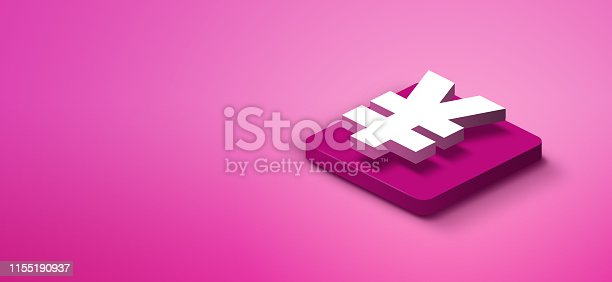 1155191162istockphoto 3d yen sign on pink abstract background 1155190937