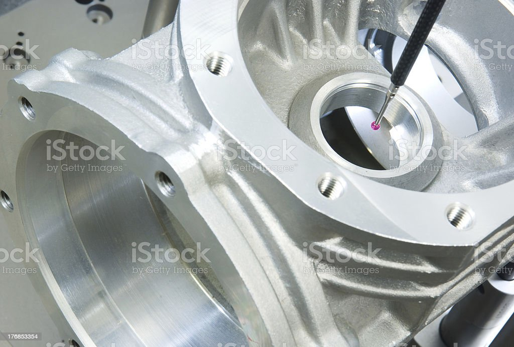 3-D-coordinate-measuring royalty-free stock photo