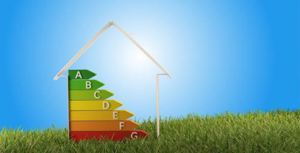 3D-Illustration Symbol Haus Energieeffizienz – Foto