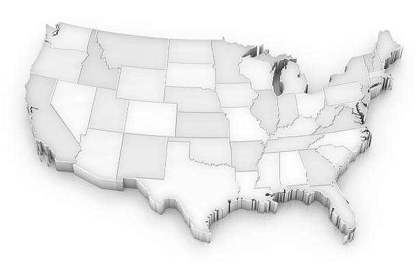 Royalty Free Blank State Map Pictures Images And Stock Photos Istock