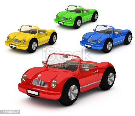 483959606 istock photo 3d-rendering of colorful cars car 483959606