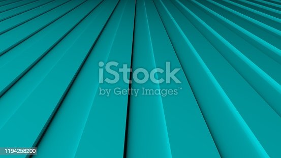 istock 3D-rendering of striped blue abstraction, lines 1194258200