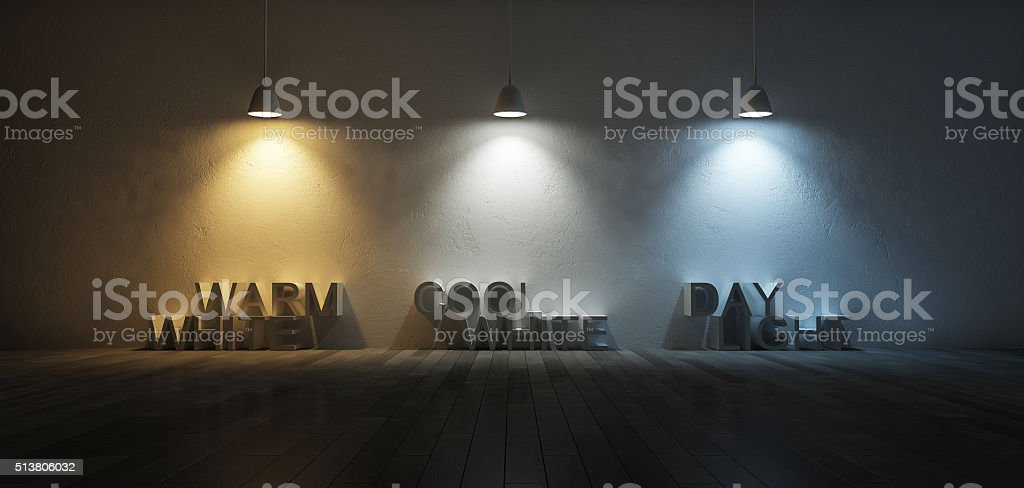 3Ds color temperature scale stock photo