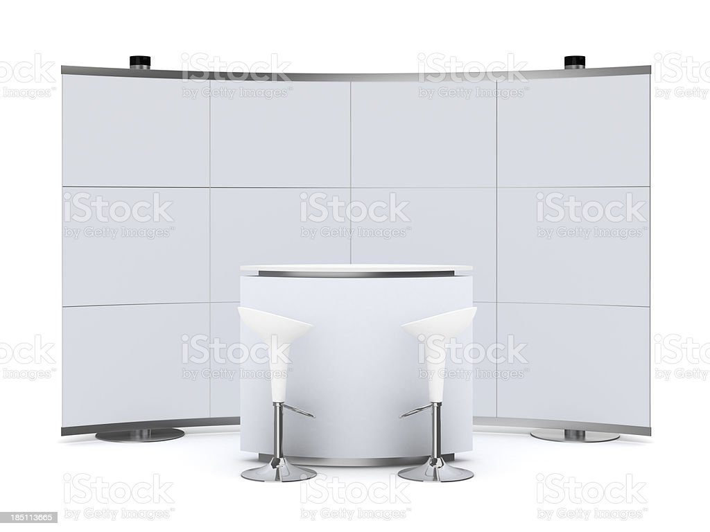 3dTrade Advertising Stand with counter stock photo