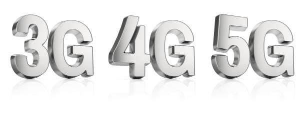 3g, 4g, 5g sign - 4g foto e immagini stock