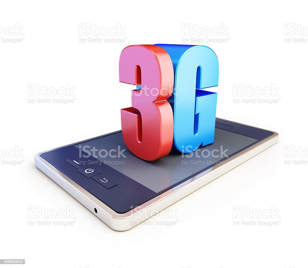 3g smartphone ang text 3g, 3G sign stock photo