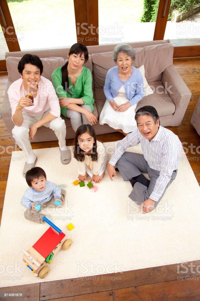 3-generation family. royalty-free stock photo