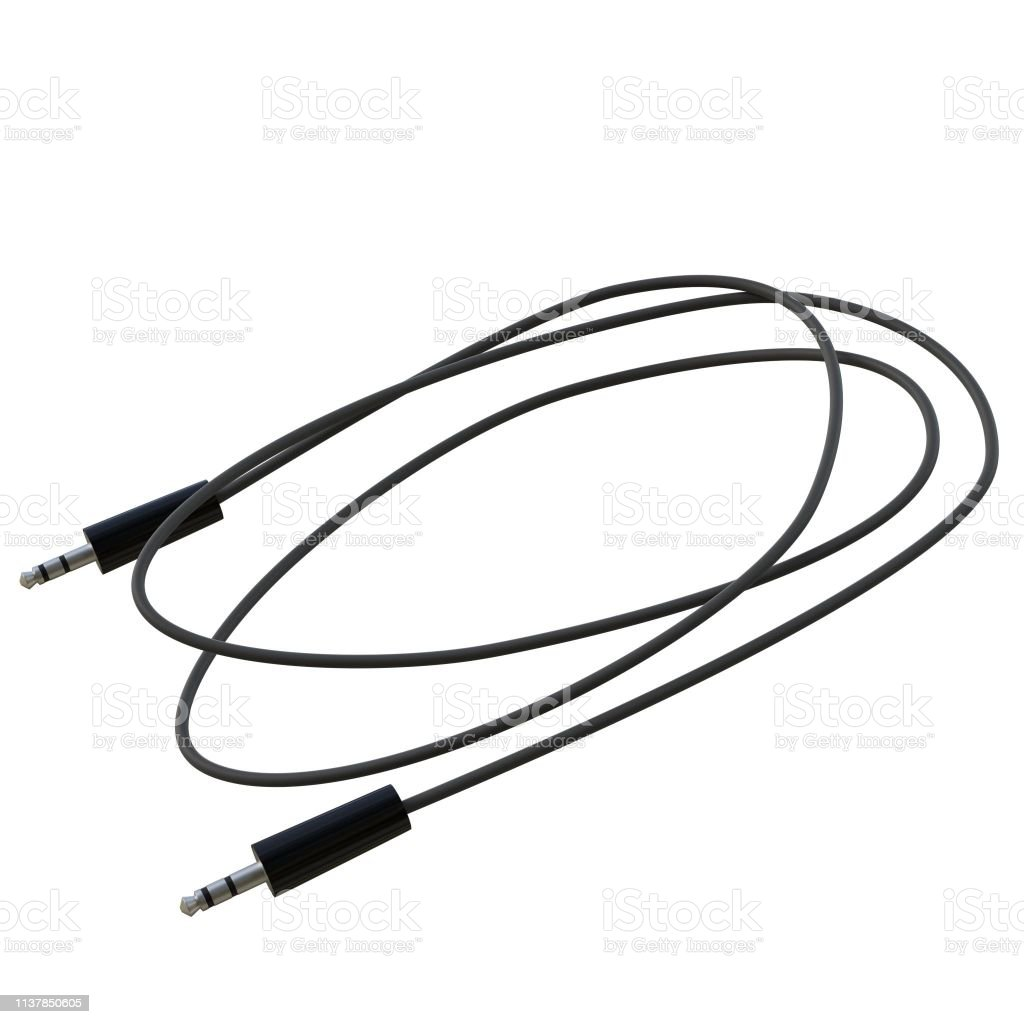 3mm jack audio cable - foto stock