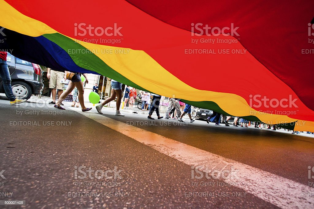 3rd Gay Pride Thessaloniki stock photo