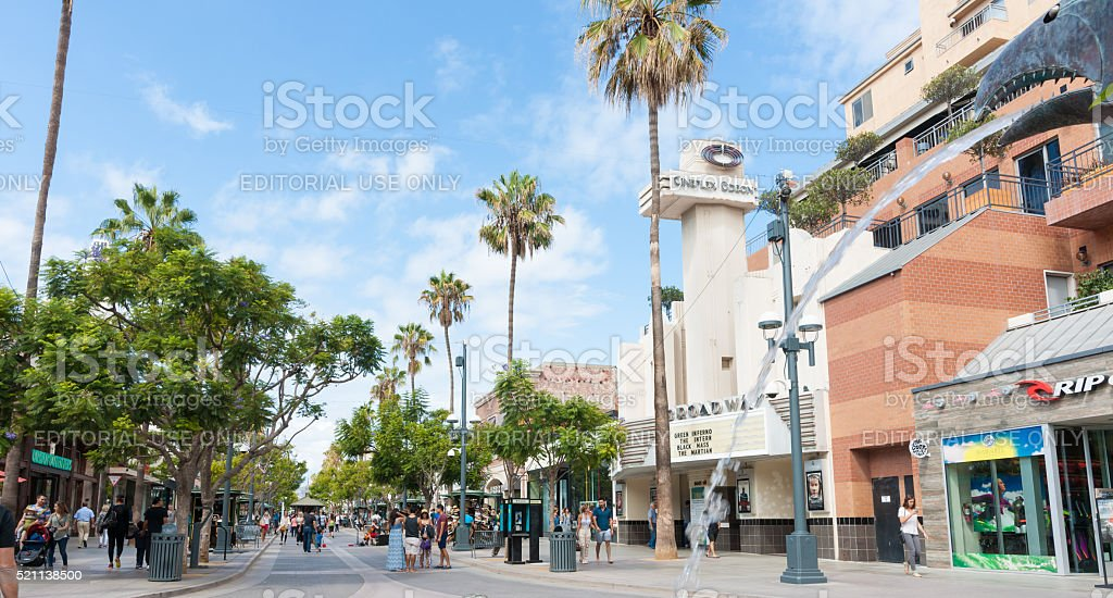3rd St. Promenade Santa Monica, stock photo