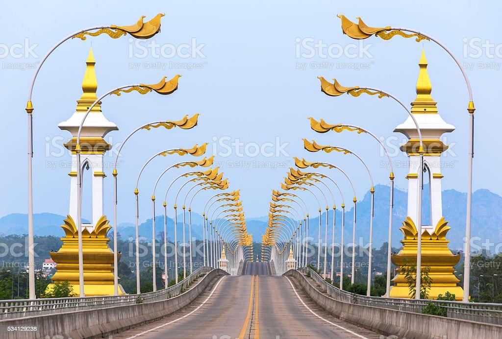 3rd Thai - Lao friendship bridge in Thailand. stock photo