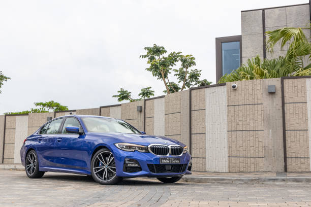 BMW 3-Series test drive day Hong Kong, China April, 2019 : BMW 3-Series test drive day on April 11 2019 in Hong Kong. bmw stock pictures, royalty-free photos & images