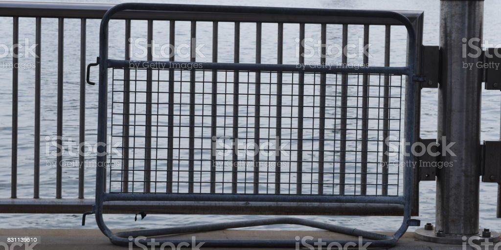 3 x metal de río - foto de stock