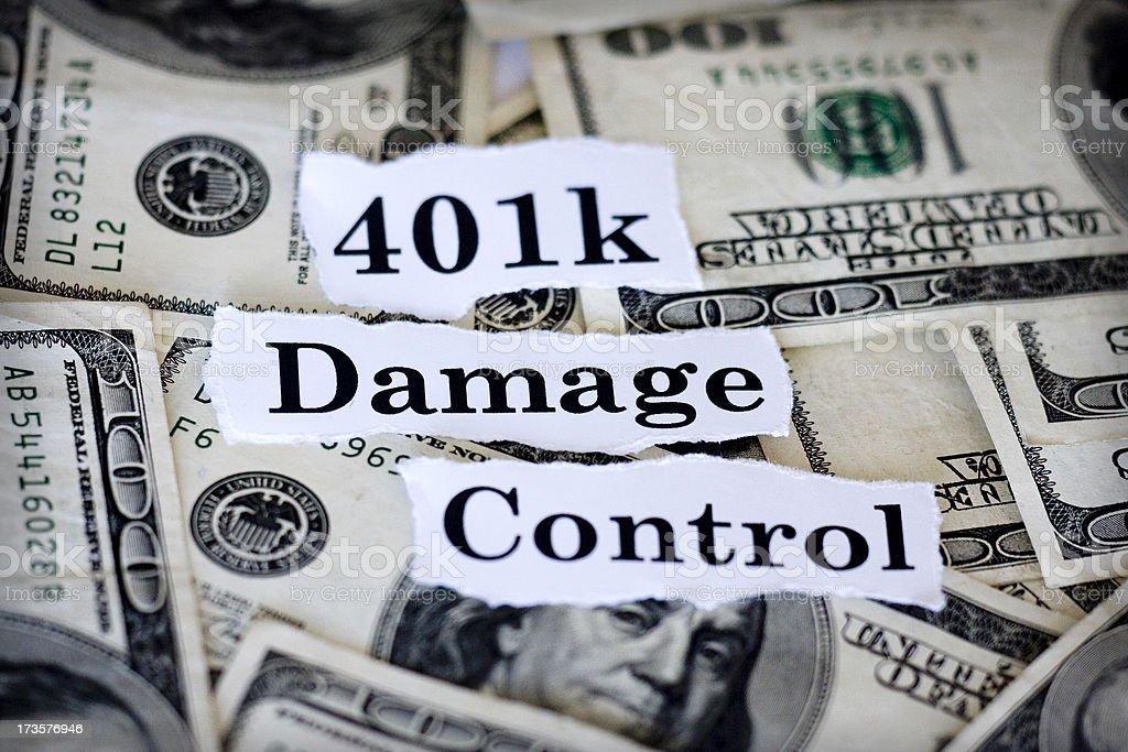 401k Damage Control royalty-free stock photo