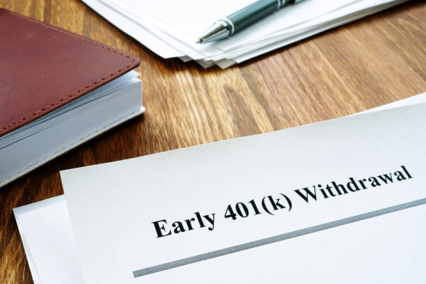 401k Early withdrawal penalty letter and notebook. 401k Early withdrawal penalty letter and notebook. 401k stock pictures, royalty-free photos & images