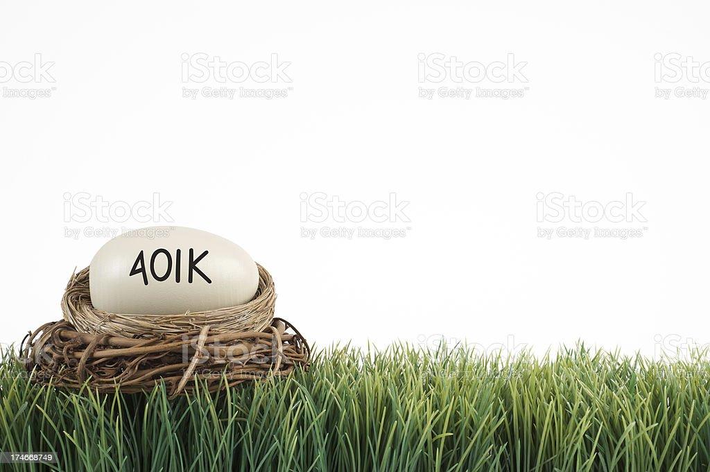 401k nest background stock photo
