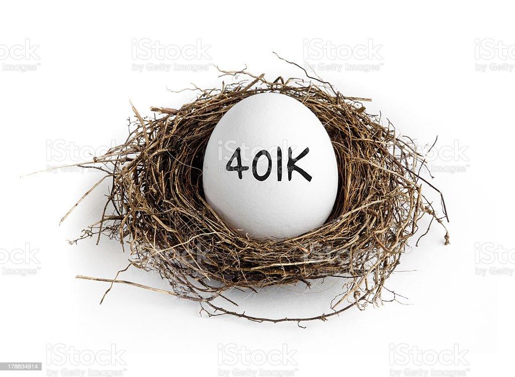 401k - Nest Egg royalty-free stock photo