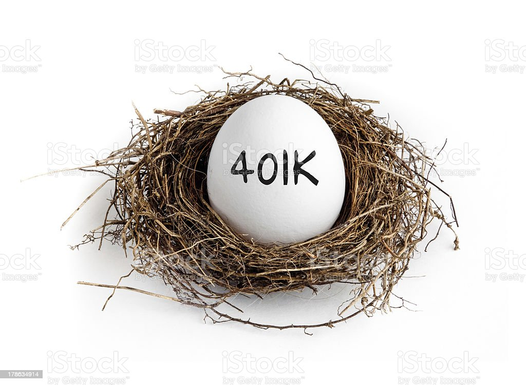 401k - Nest Egg stock photo