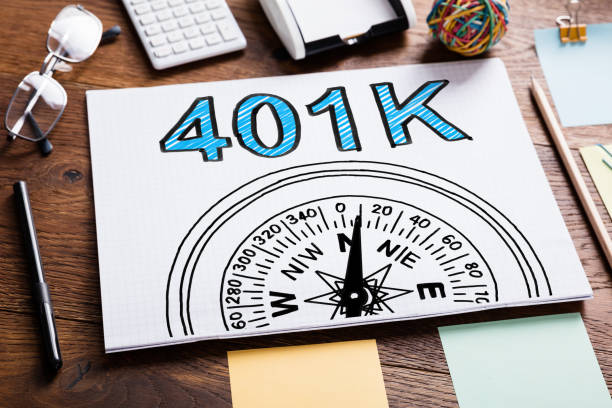 401k Pension Plan In Notebook 401k Pension Plan In Notebook On The Table 40 kilometre stock pictures, royalty-free photos & images