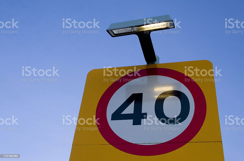 40mph road sign royalty-free stock photo