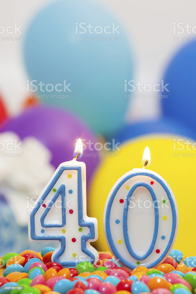 40st  birthday. stock photo