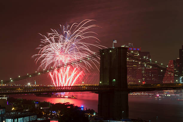 40th annual Macys 4th of July fireworks stock photo