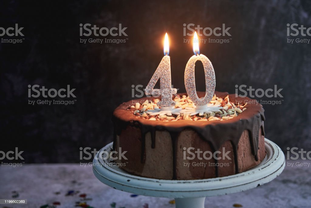 Admirable 40Th Birthday Cake Stock Photo Download Image Now Istock Funny Birthday Cards Online Elaedamsfinfo