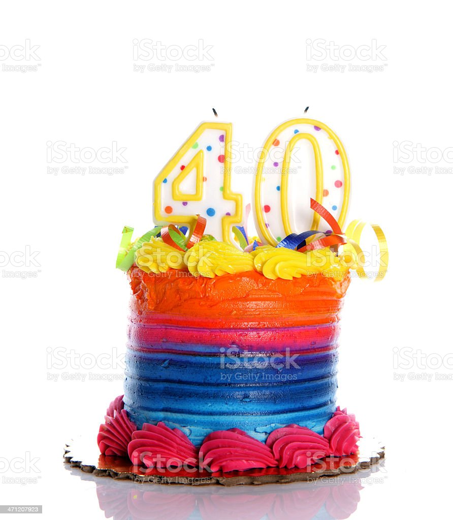 40th Birthday Cake stock photo