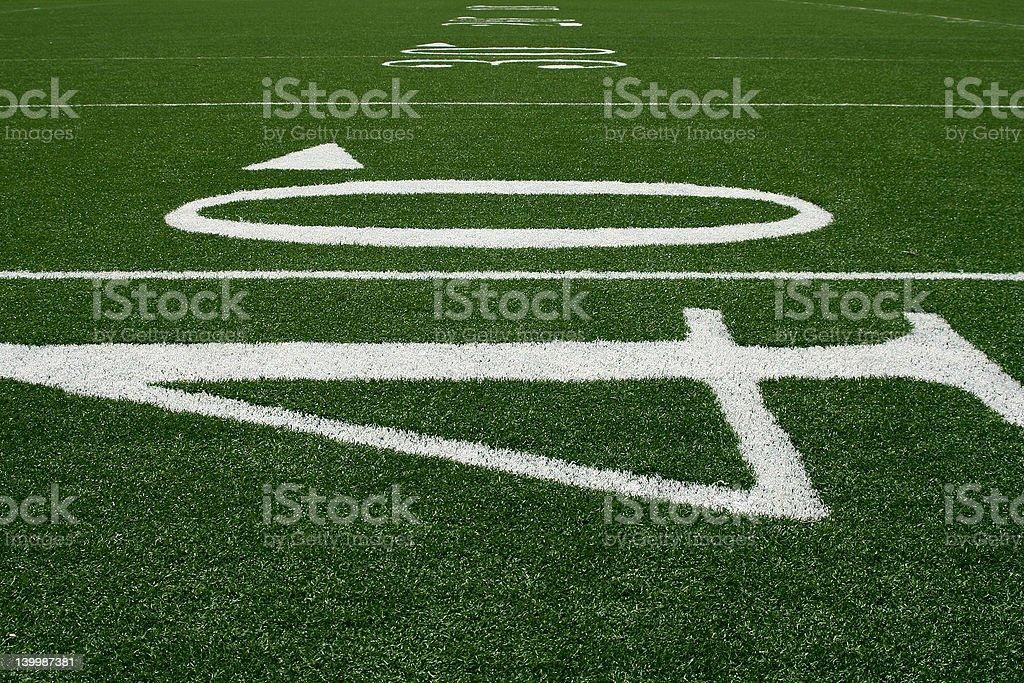 40-yard Line royalty-free stock photo