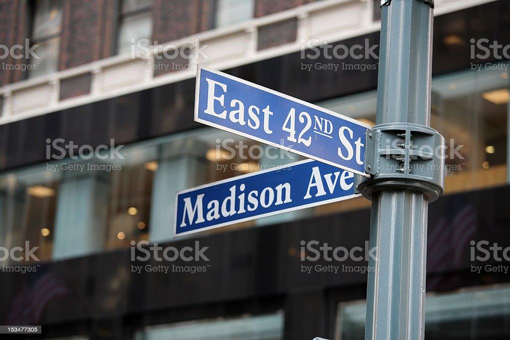 42nd & Madison royalty-free stock photo