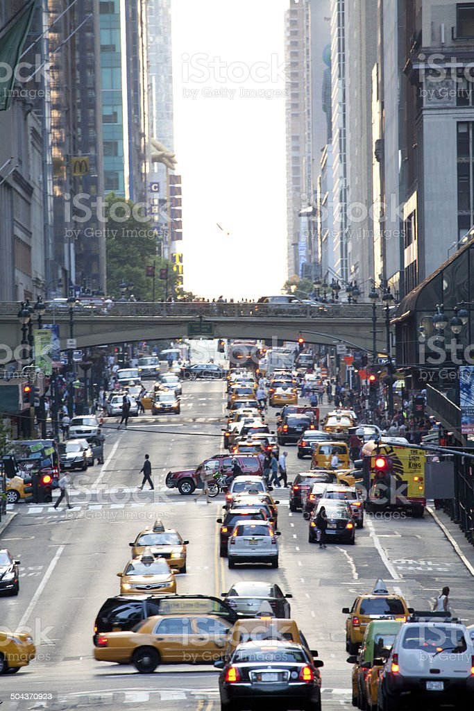 42nd St in New York City stock photo