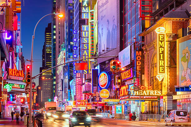 42nd street new york city - times square stock photos and pictures