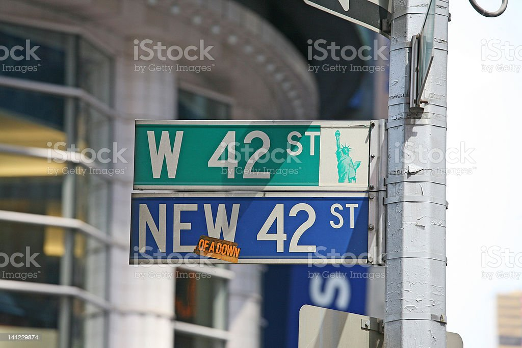 42nd street times two royalty-free stock photo