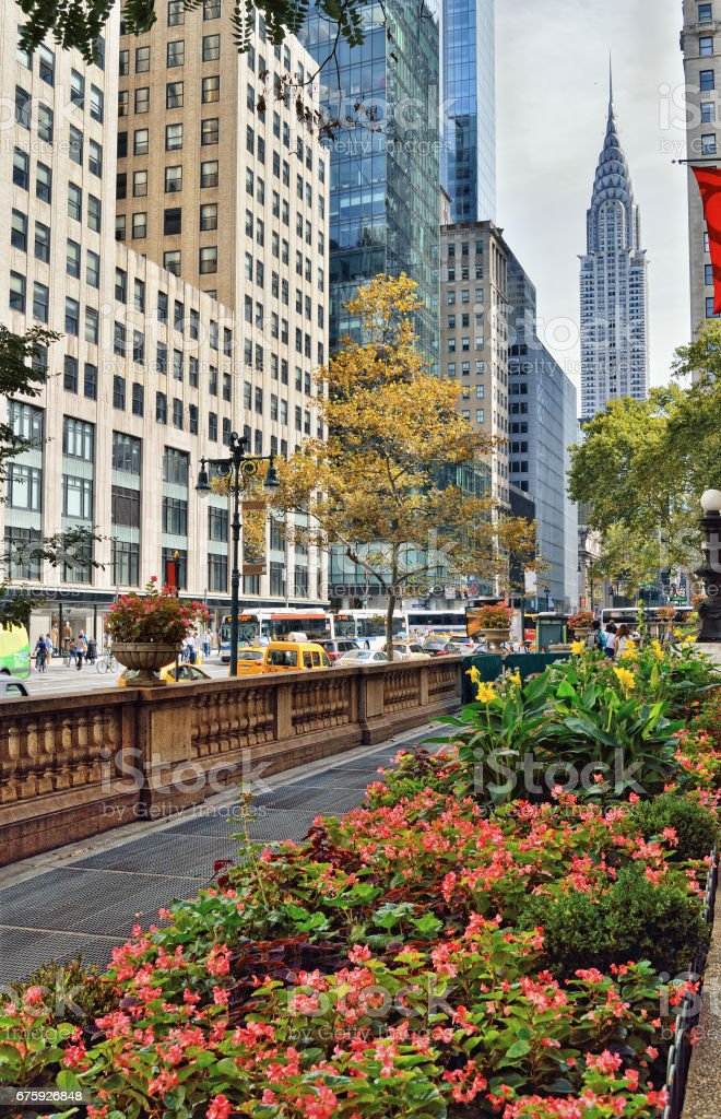 42nd Street with Chrysler Building. stock photo
