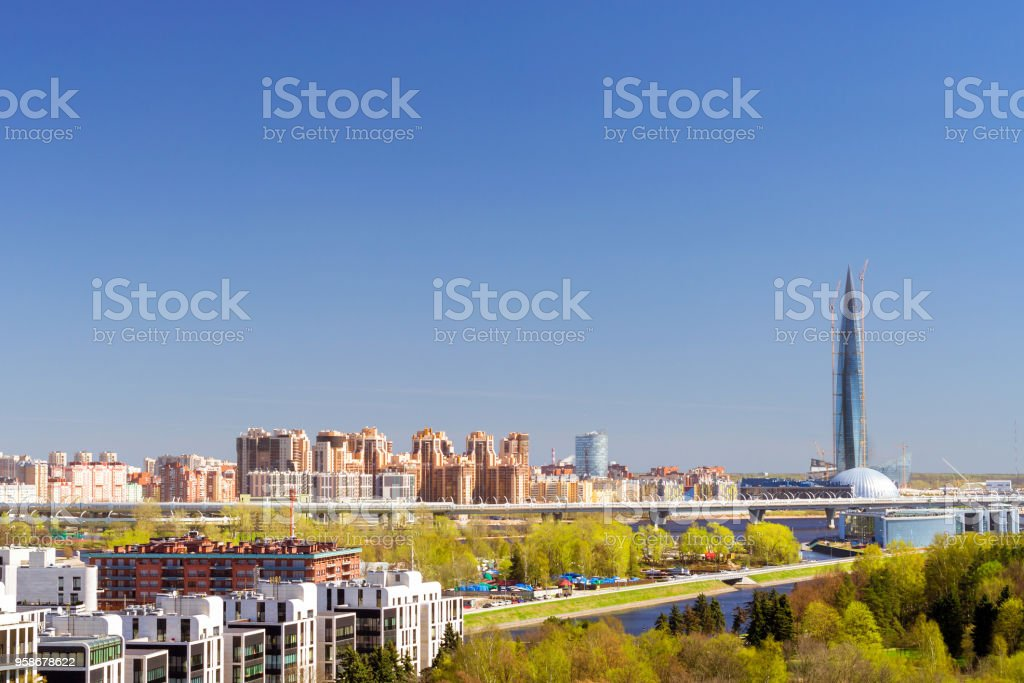 462-meter skyscraper Lakhta Center, St.Petersburg stock photo